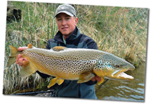 Fish on the Missouri River can reach sizes of eighteen to twenty-five inches in length