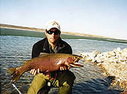 Jim McFadyean is an enrolled member of the Blackfeet Tribe, allowing him to guide fishers through the Blackfeet Reservation in Northern Montana.